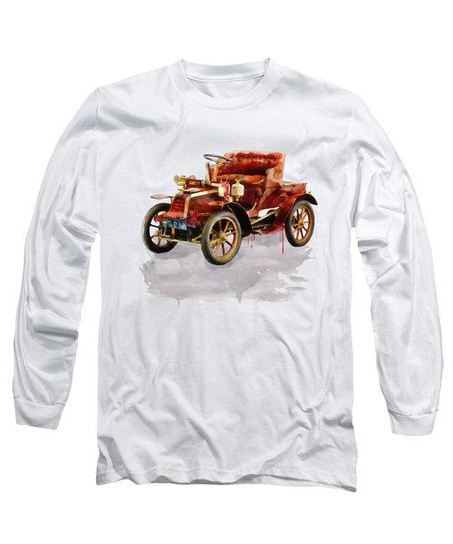 Oldtimer Car Watercolor Long Sleeve T-Shirt