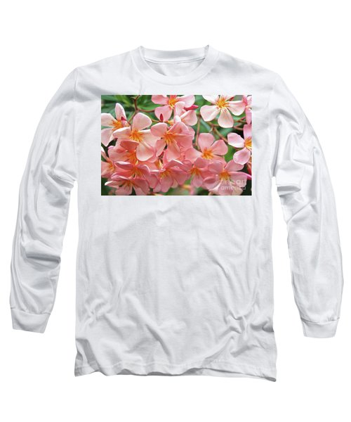 Long Sleeve T-Shirt featuring the photograph Oleander Dr. Ragioneri 5 by Wilhelm Hufnagl