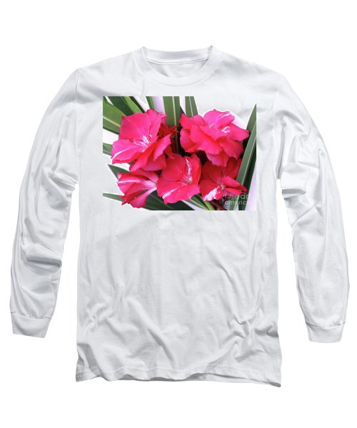 Long Sleeve T-Shirt featuring the photograph Oleander Geant Des Batailles 1 by Wilhelm Hufnagl
