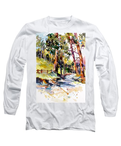 Long Sleeve T-Shirt featuring the painting Olinda Trees Maui 2 by Rae Andrews