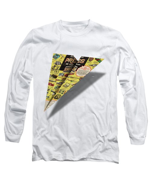 Olympic Sales Club Comic Book Ad Paper Airplane Long Sleeve T-Shirt