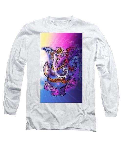 Omkareshvar Ganesha Long Sleeve T-Shirt