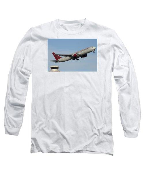 Omni Air International Boeing 767-319 N396ax Phoenix Sky Harbor January 2 2015 Long Sleeve T-Shirt by Brian Lockett