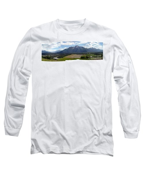 On A Butteiful Day Long Sleeve T-Shirt by Ron Bissett