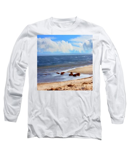 On A Clear Day Long Sleeve T-Shirt by Judy Palkimas