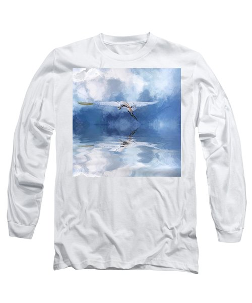 On A Wing And A Prayer Long Sleeve T-Shirt by Cyndy Doty