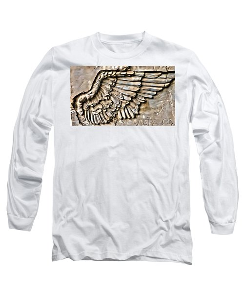On Angels Wings Long Sleeve T-Shirt