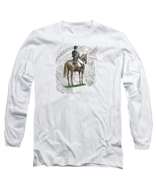 On Centerline - Dressage Horse Print Color Tinted Long Sleeve T-Shirt by Kelli Swan