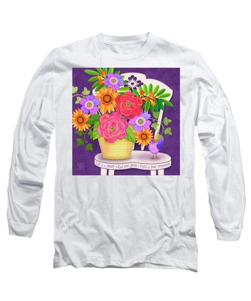 On The Bright Side - Flowers Of Faith Long Sleeve T-Shirt