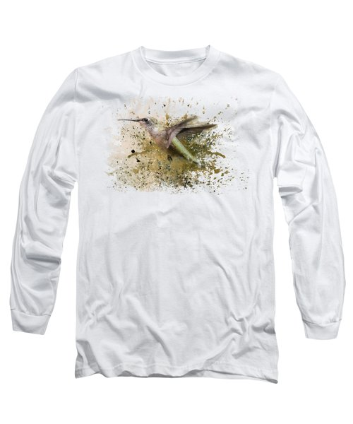 On The Fly Hummingbird Art Long Sleeve T-Shirt