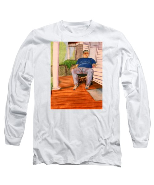 On The Porch With Uncle Pervy Long Sleeve T-Shirt by Jean Haynes