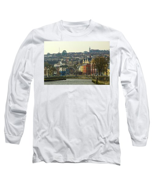 Long Sleeve T-Shirt featuring the photograph On The River Lee, Cork Ireland by Marie Leslie