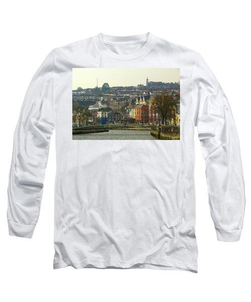 On The River Lee, Cork Ireland Long Sleeve T-Shirt