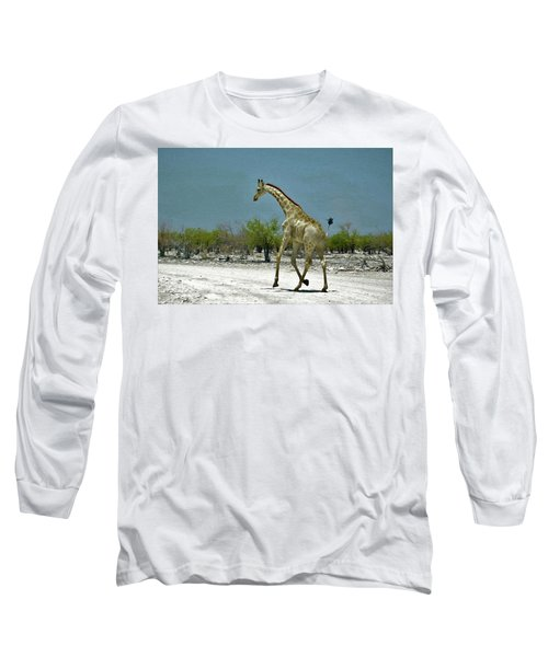Long Sleeve T-Shirt featuring the digital art On The Run Again by Ernie Echols