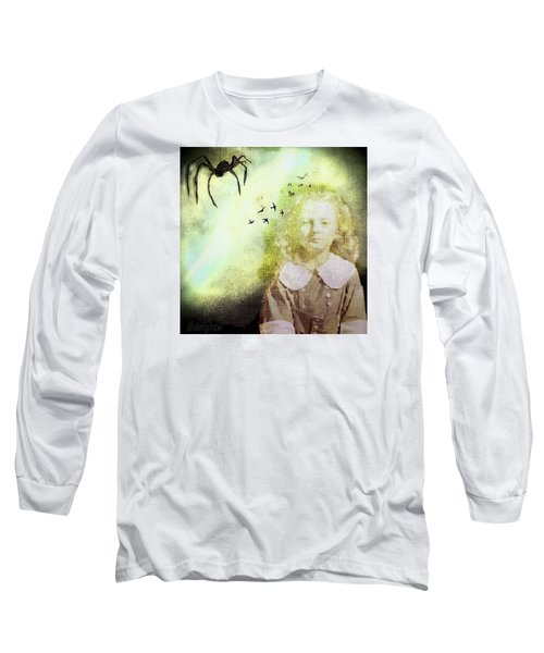 Long Sleeve T-Shirt featuring the digital art Once There Was A Spider by Delight Worthyn