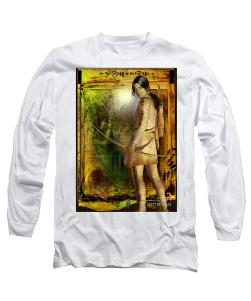 Long Sleeve T-Shirt featuring the digital art Once Was by Shadowlea Is