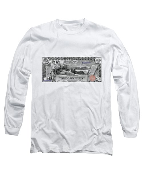 One Dollar Note - 1896 Educational Series  Long Sleeve T-Shirt
