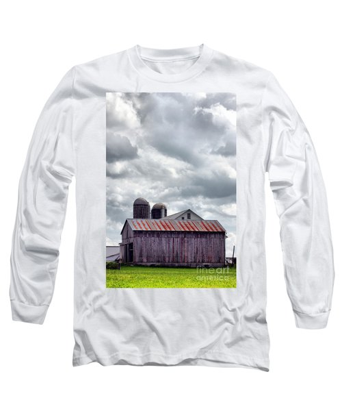 One Fine Cloudy Day  Long Sleeve T-Shirt by Polly Peacock