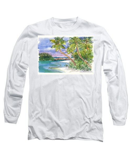 One-foot-island, Aitutaki Long Sleeve T-Shirt