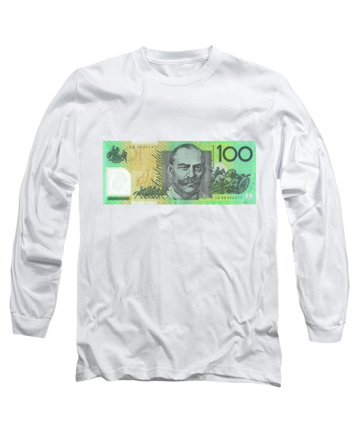One Hundred Australian Dollar Bill Long Sleeve T-Shirt