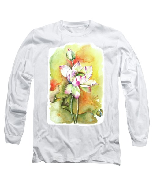 Long Sleeve T-Shirt featuring the painting One Sunny Day by Anna Ewa Miarczynska