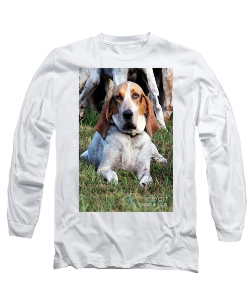 One Tired Hound Long Sleeve T-Shirt by Polly Peacock