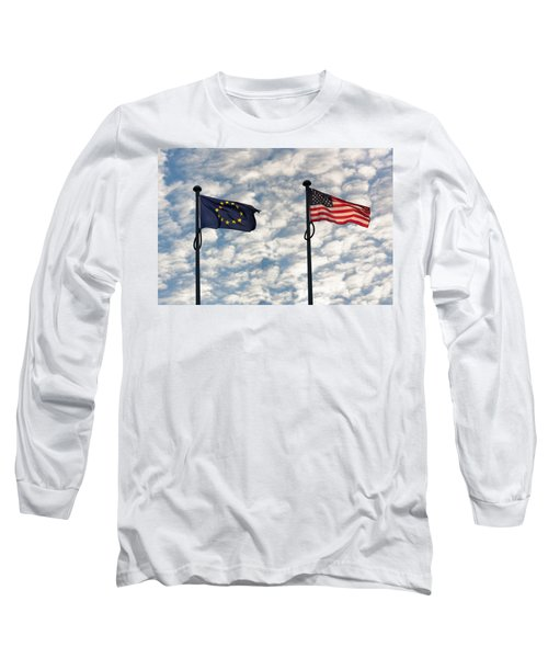 One World Long Sleeve T-Shirt by Semmick Photo