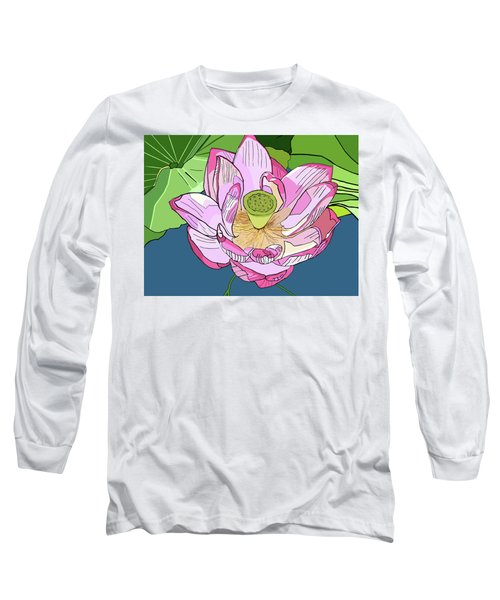 Open Lotus Long Sleeve T-Shirt by Jamie Downs