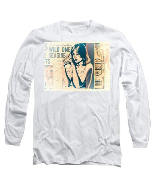 Ophelia 1976 Long Sleeve T-Shirt by Udo Linke