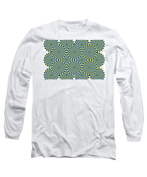 Optical Illusion Spinning Circles Long Sleeve T-Shirt