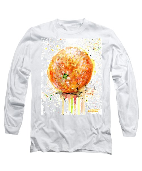 Orange 1 Long Sleeve T-Shirt by Arleana Holtzmann