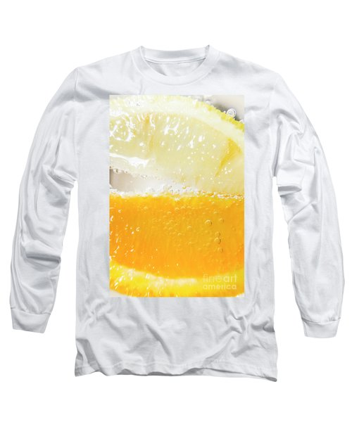 Orange And Lemon In Cocktail Glass Long Sleeve T-Shirt
