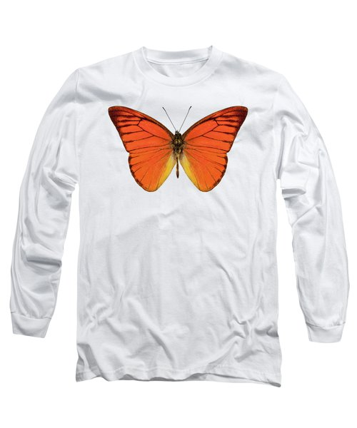 Orange Butterfly Species Appias Nero Neronis  Long Sleeve T-Shirt