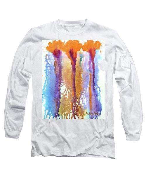Orange Carnations Long Sleeve T-Shirt