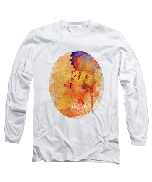 Orange Color Splash Long Sleeve T-Shirt