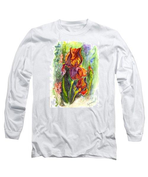 Long Sleeve T-Shirt featuring the painting Orange Ice by Carol Wisniewski