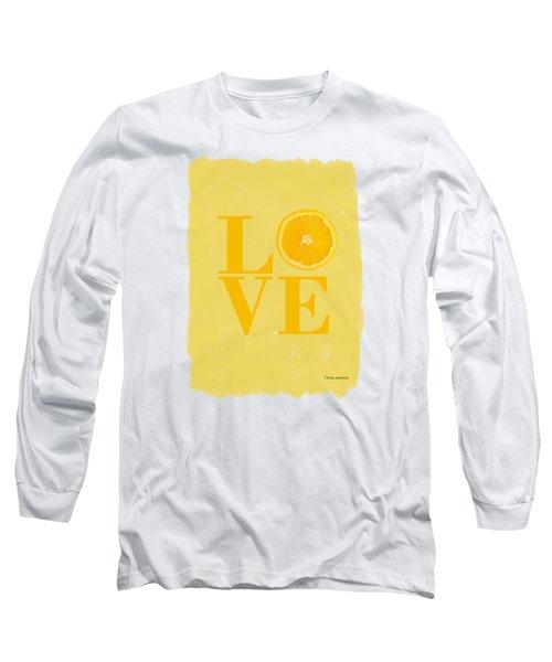 Orange Long Sleeve T-Shirt by Mark Rogan