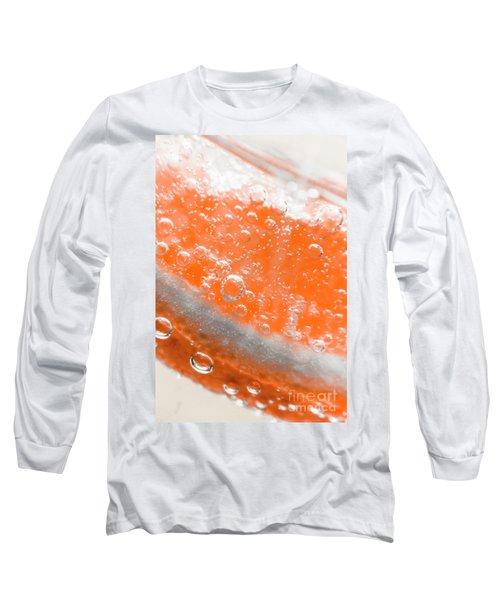 Orange Martini Cocktail Long Sleeve T-Shirt