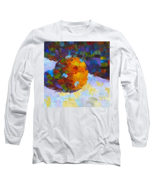 Orange Mosaic #3 Long Sleeve T-Shirt