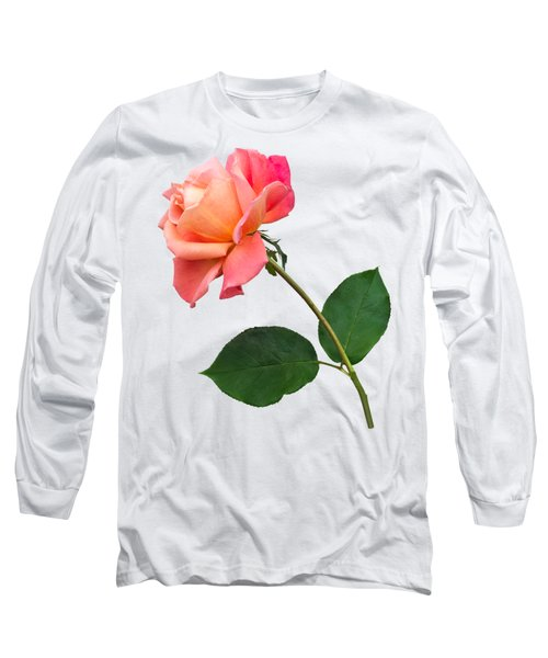 Orange Rose Specimen Long Sleeve T-Shirt by Jane McIlroy