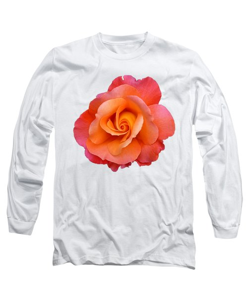 Orange Rosebud Highlight Long Sleeve T-Shirt