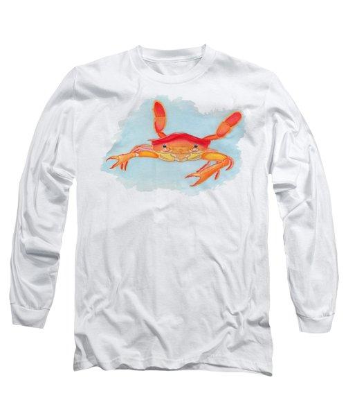 Orange Swimmer Crab Long Sleeve T-Shirt