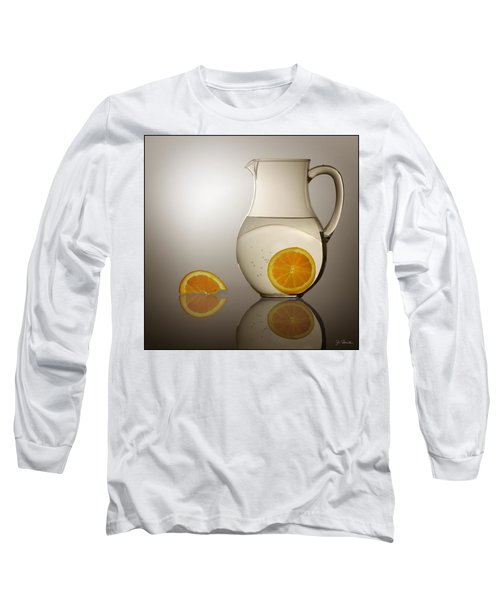 Oranges And Water Pitcher Long Sleeve T-Shirt by Joe Bonita