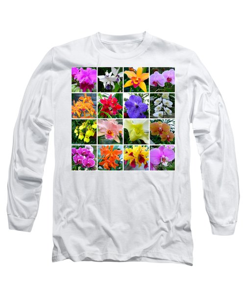 Orchid Collage Long Sleeve T-Shirt