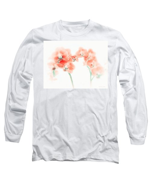 Orchid Collection 'soft Red' Long Sleeve T-Shirt