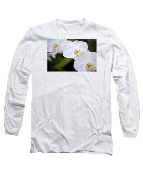 Orchid Flow Long Sleeve T-Shirt by Deborah  Crew-Johnson