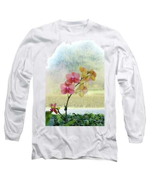 Orchid In Portrait Long Sleeve T-Shirt