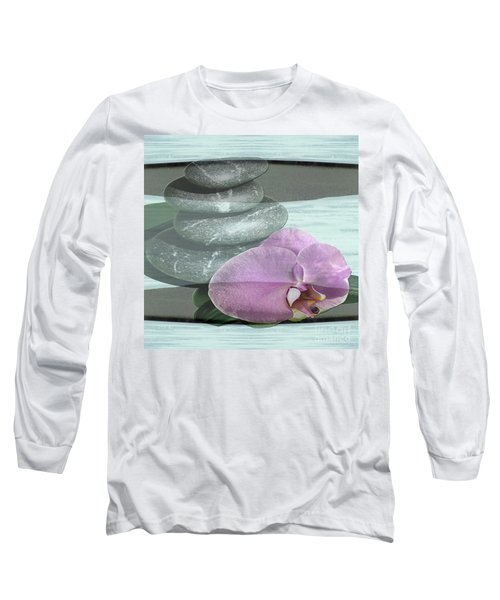 Long Sleeve T-Shirt featuring the photograph Orchid Tranquility by Rockin Docks Deluxephotos