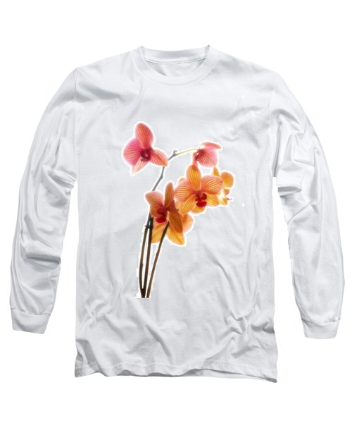 Orchids Long Sleeve T-Shirt by Mark Alder