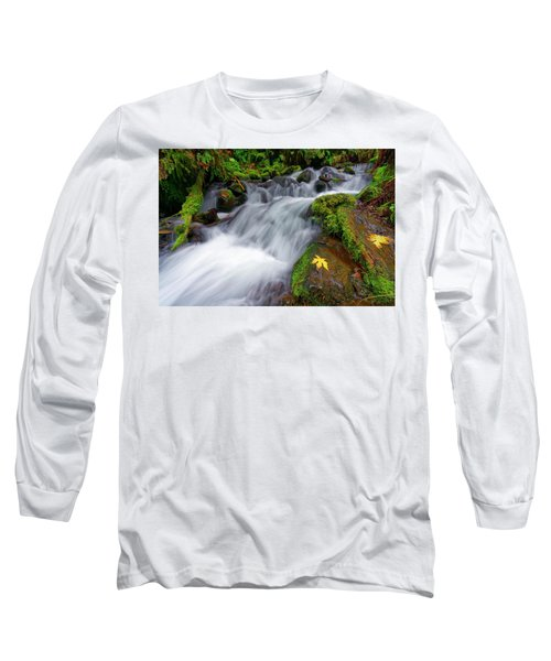 Oregon Cascade Long Sleeve T-Shirt by Jonathan Davison